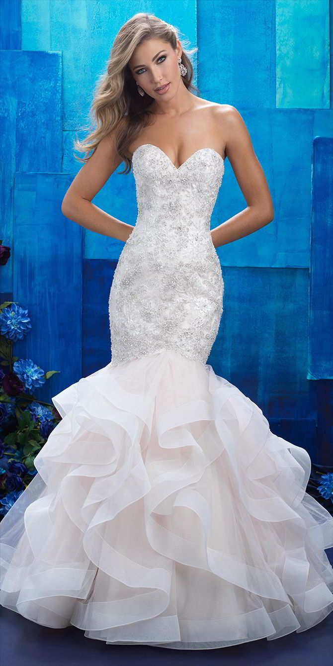 ruffle mermaid wedding dresses photo - 1