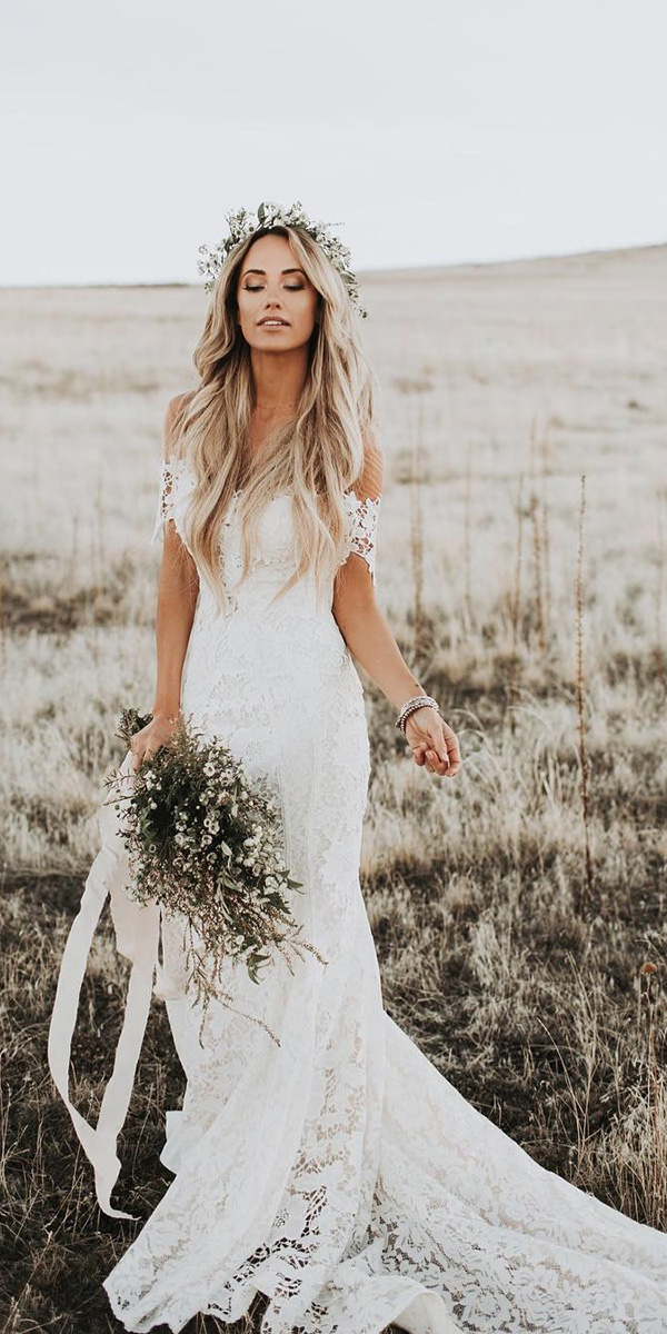 rustic lace wedding dresses photo - 1