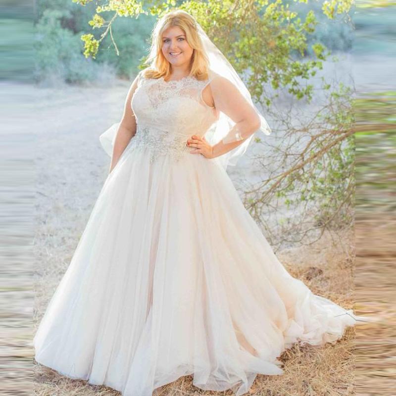 rustic wedding dresses plus size photo - 1