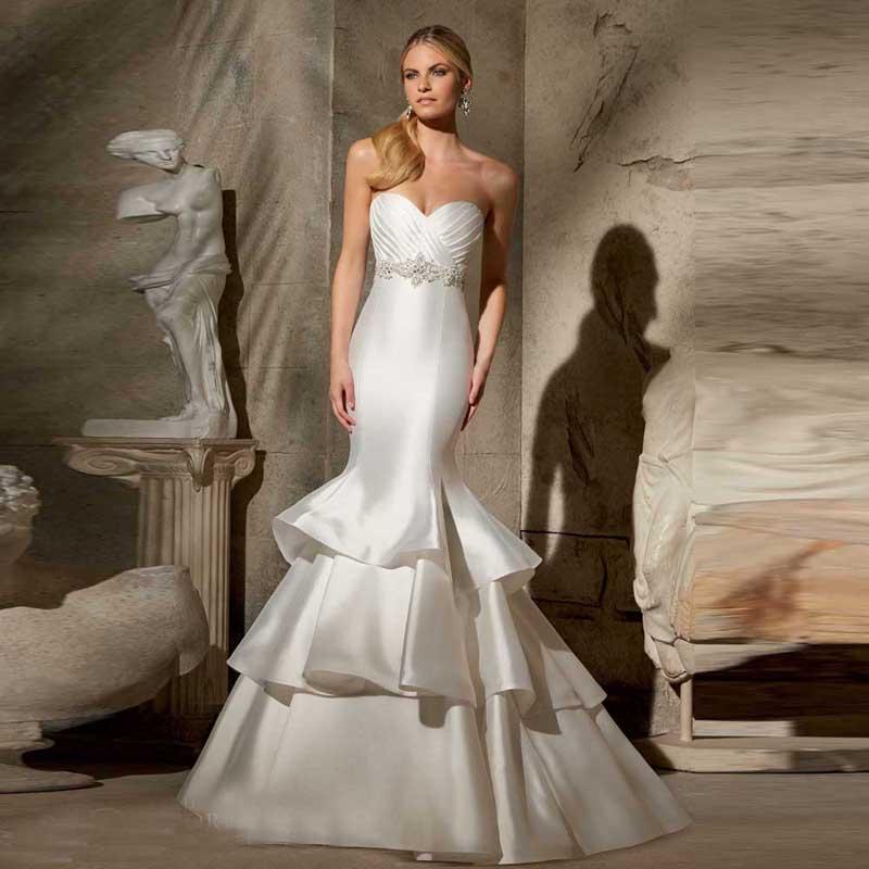 satin trumpet wedding dresses photo - 1