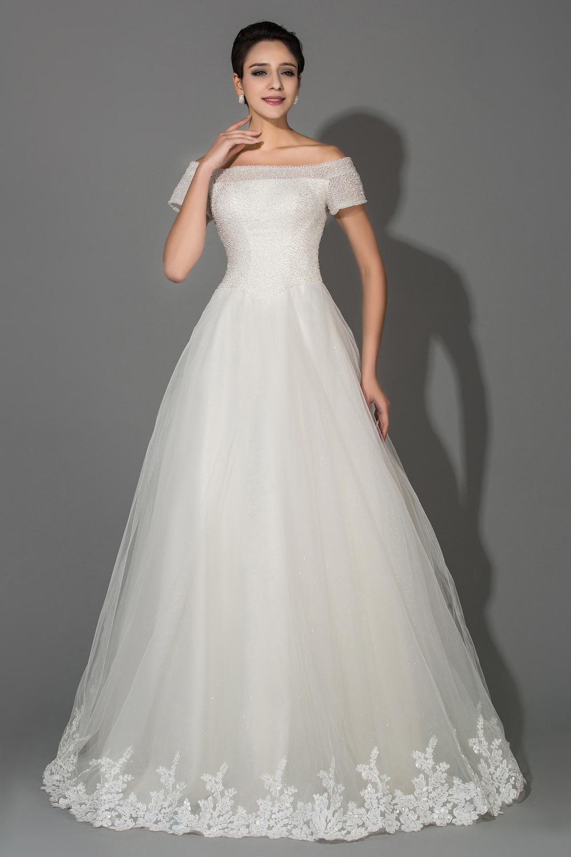 scoop neck wedding dresses photo - 1