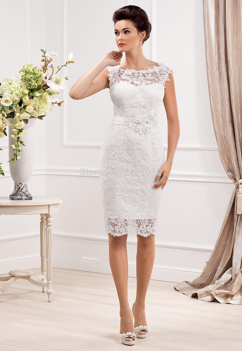 scoop neckline wedding dresses photo - 1