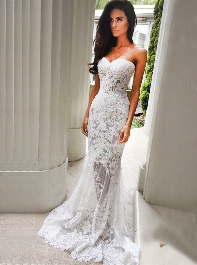 see through corset wedding dresses photo - 1