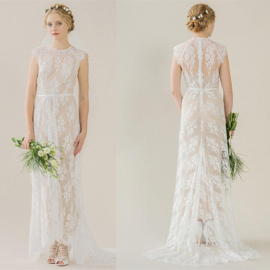 see through wedding dresses photo - 1