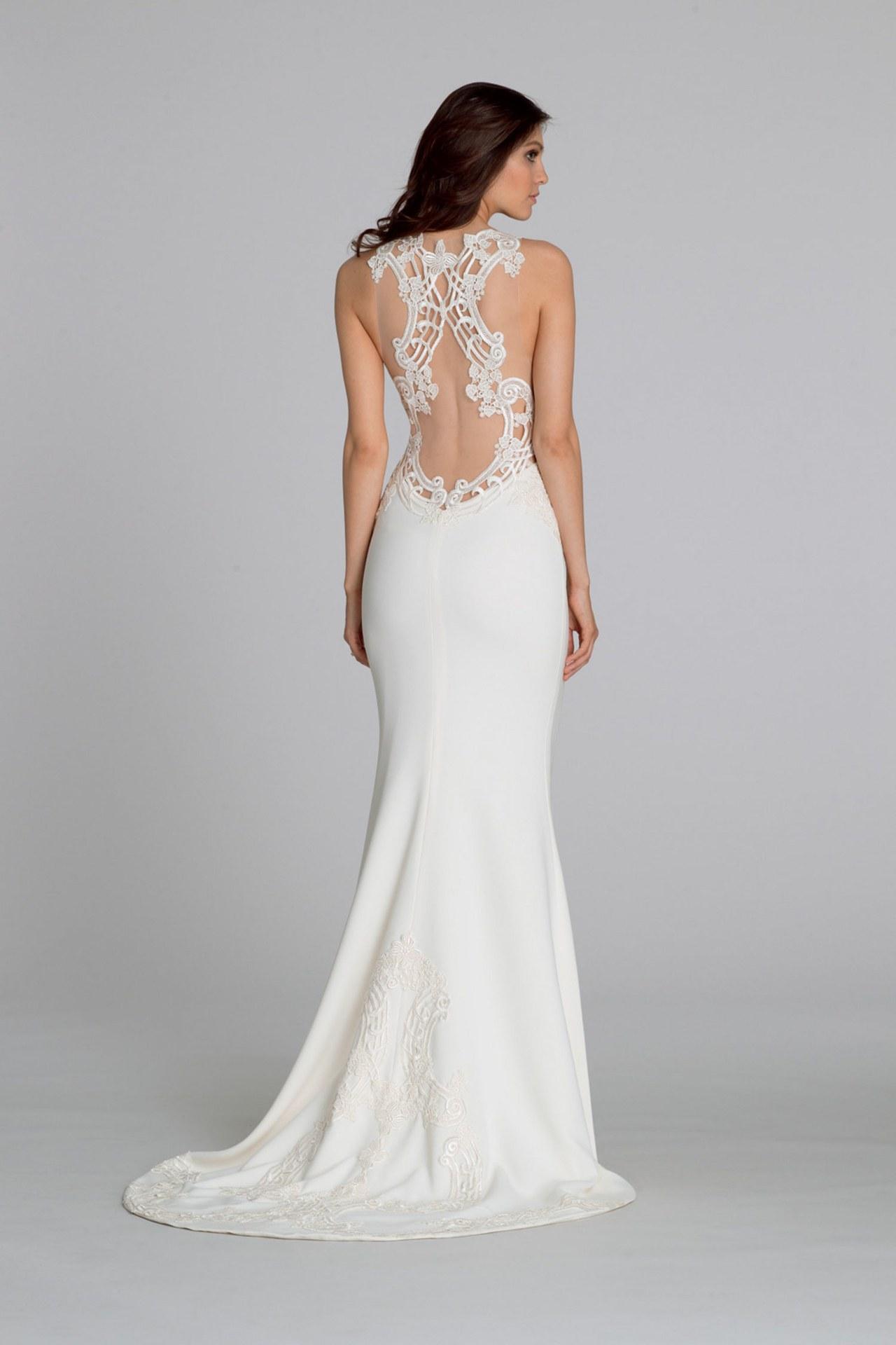 sexy back wedding dresses photo - 1