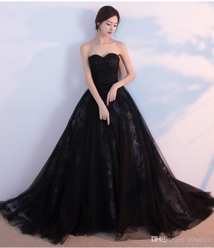 sexy black wedding dresses photo - 1
