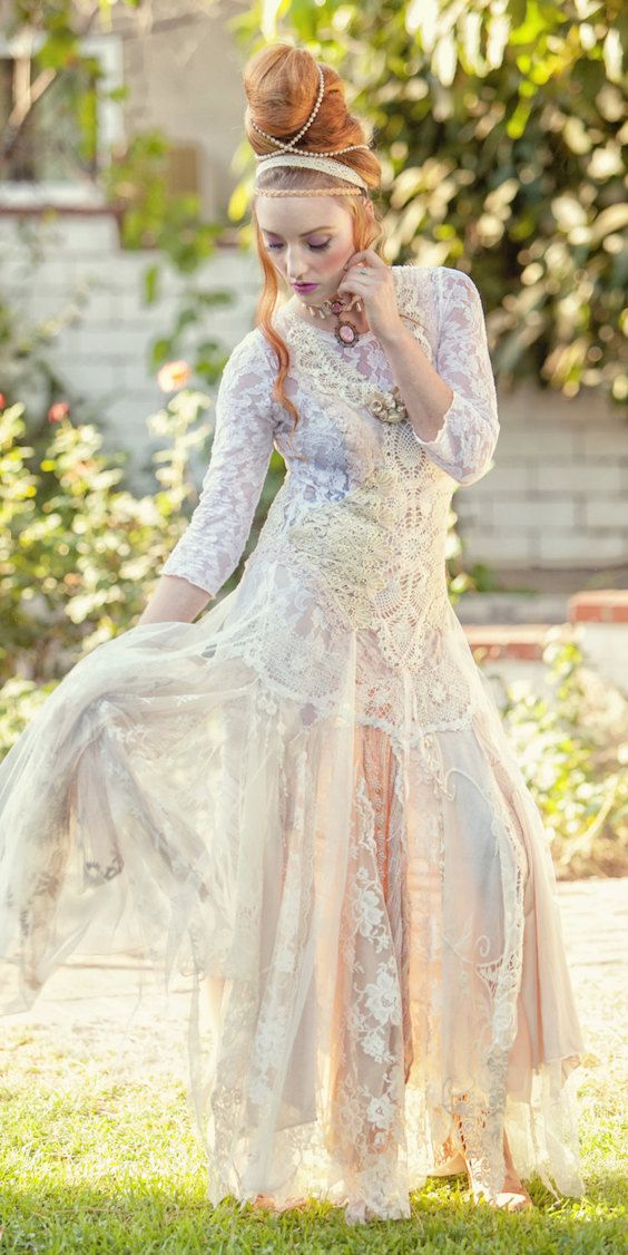 shabby chic wedding dresses photo - 1