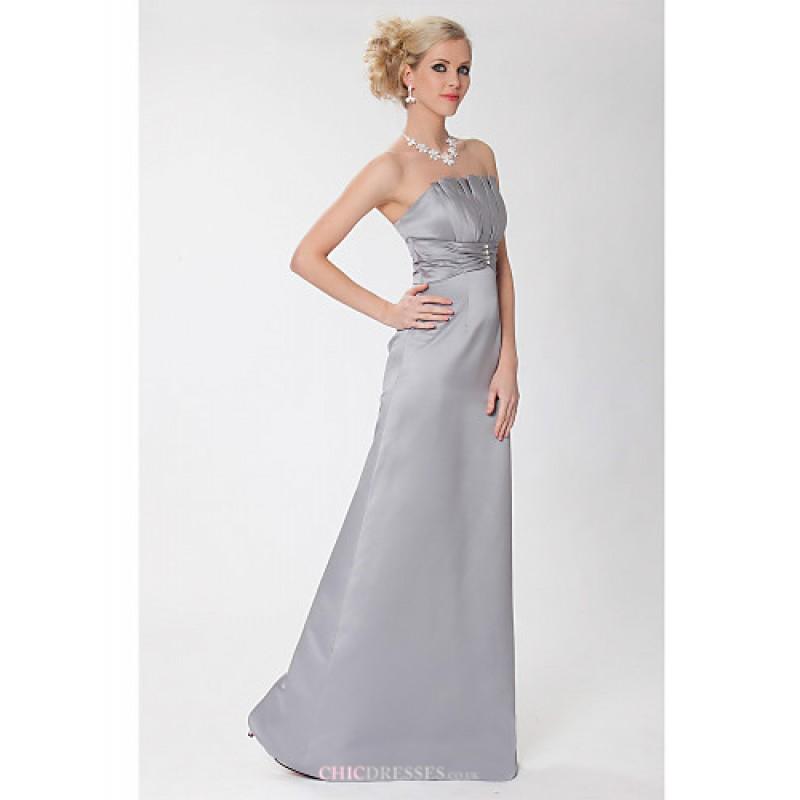 sheath column wedding dresses photo - 1