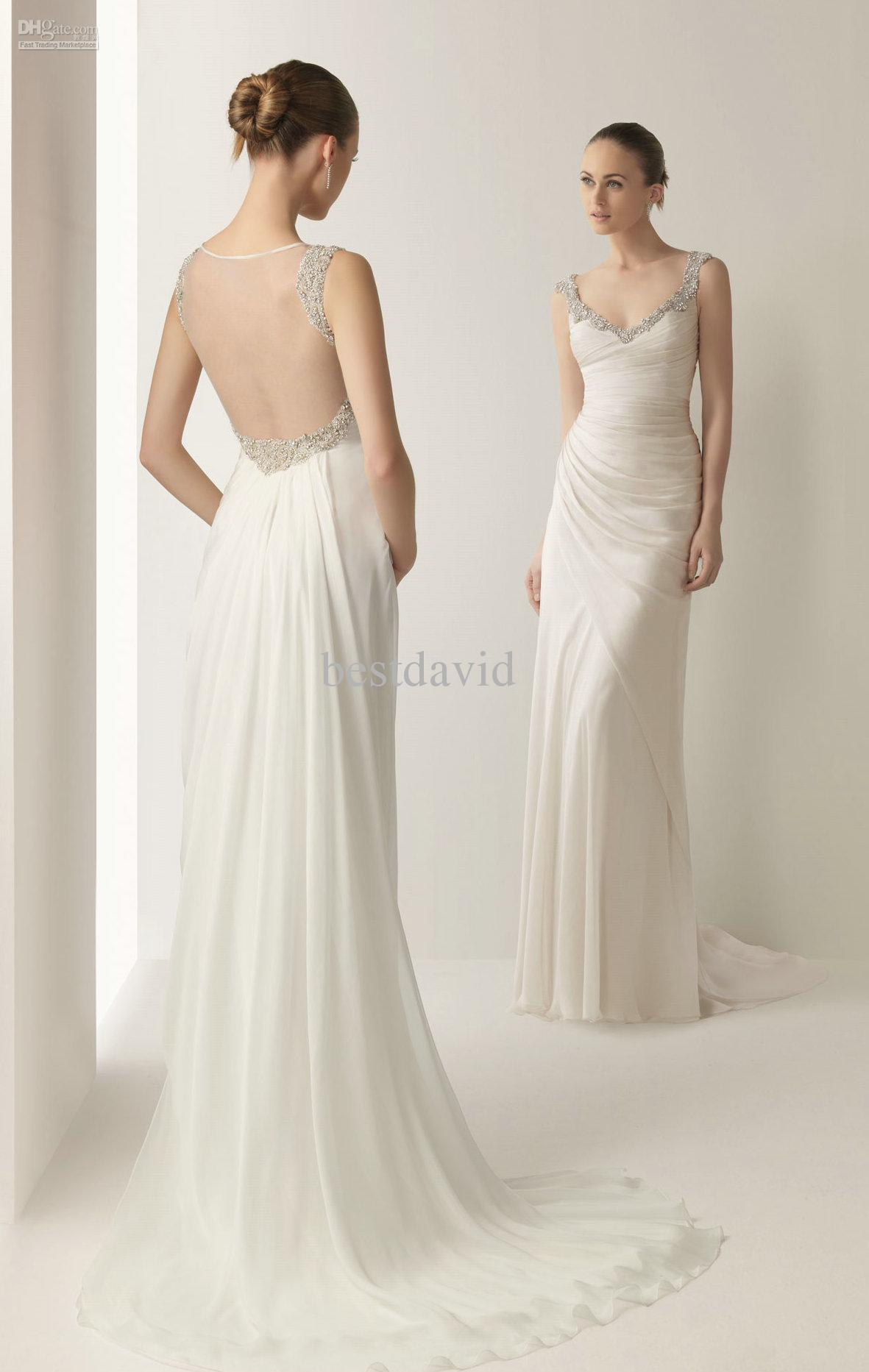 sheath wedding dresses photo - 1