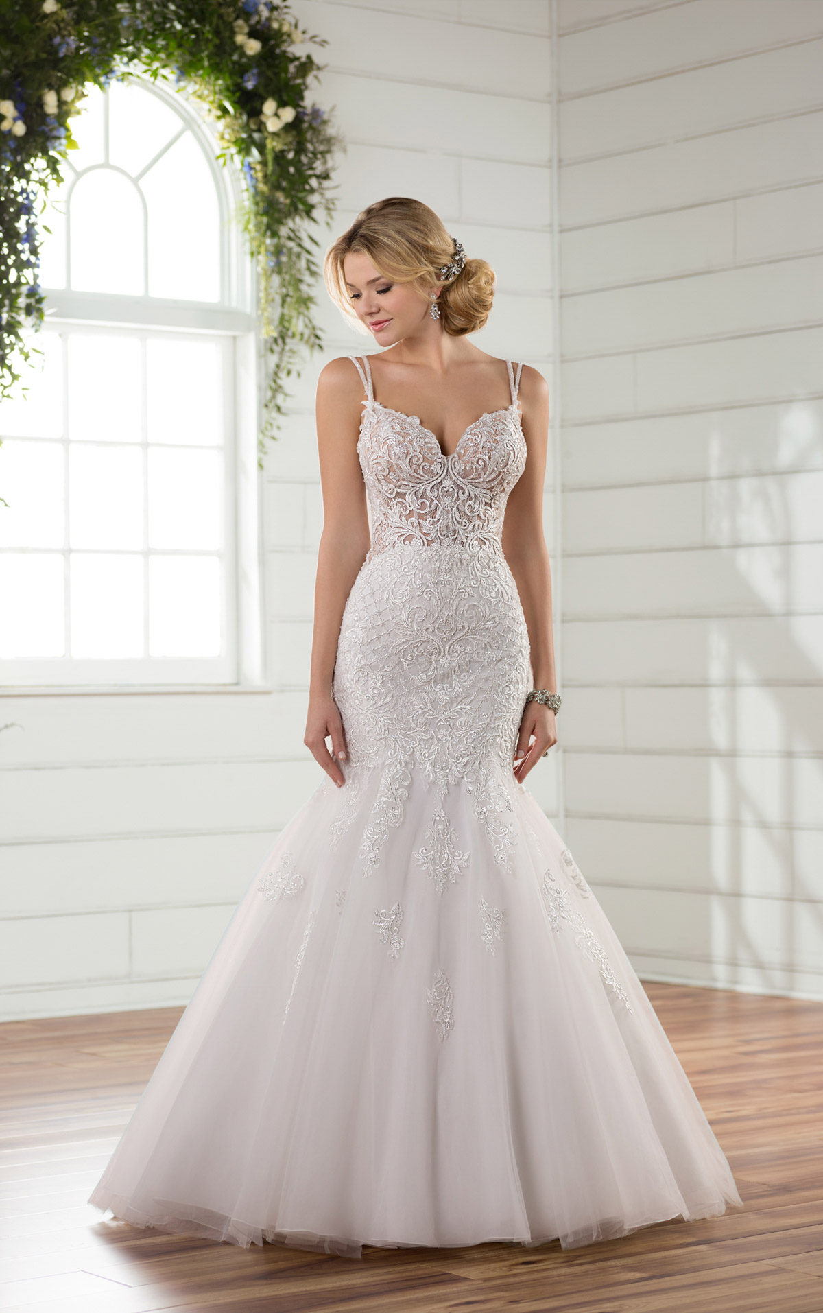 sheer mermaid wedding dresses photo - 1