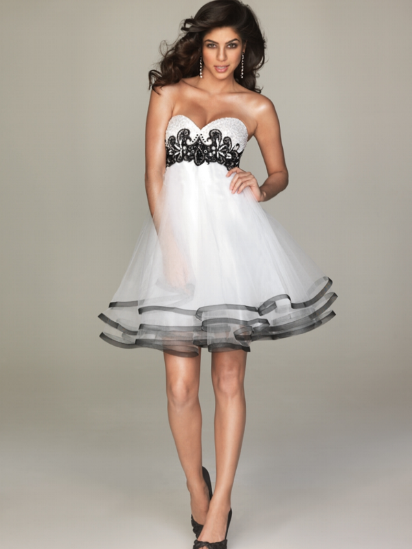 short black and white wedding dresses photo - 1