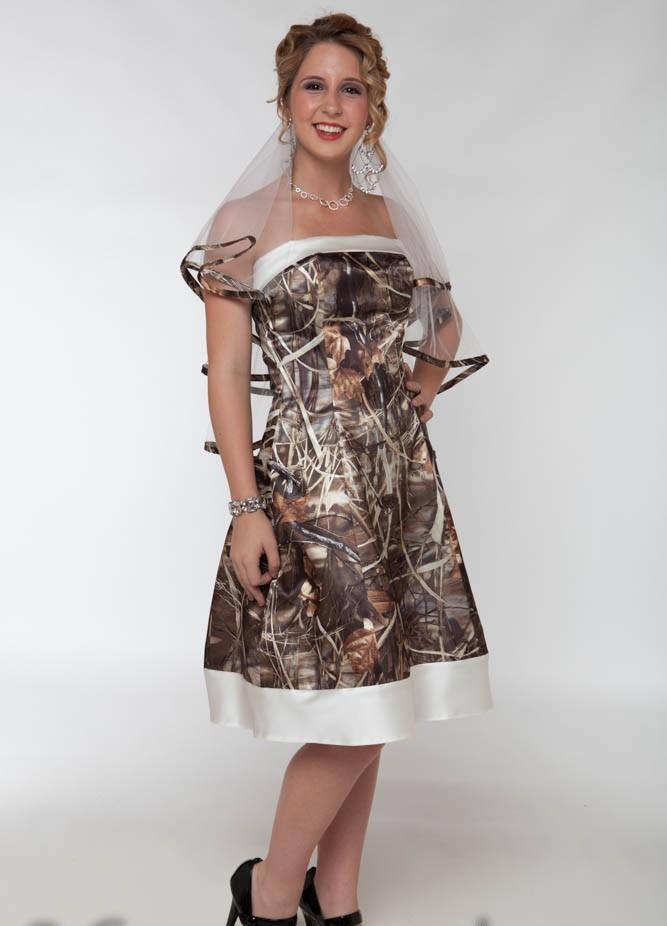 short camo wedding dresses photo - 1