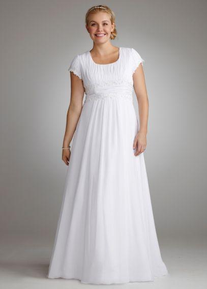 short chiffon wedding dresses photo - 1