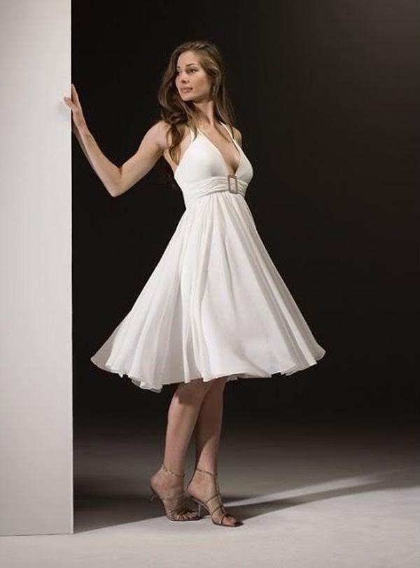 short halter wedding dresses photo - 1