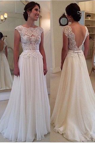short ivory lace wedding dresses photo - 1