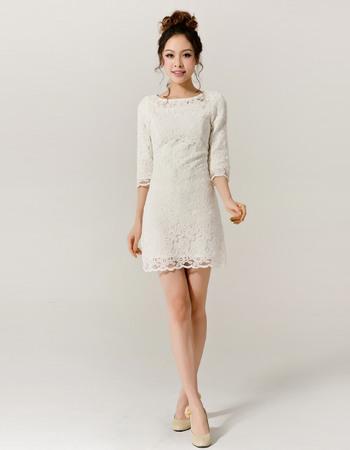 short long sleeved wedding dresses photo - 1