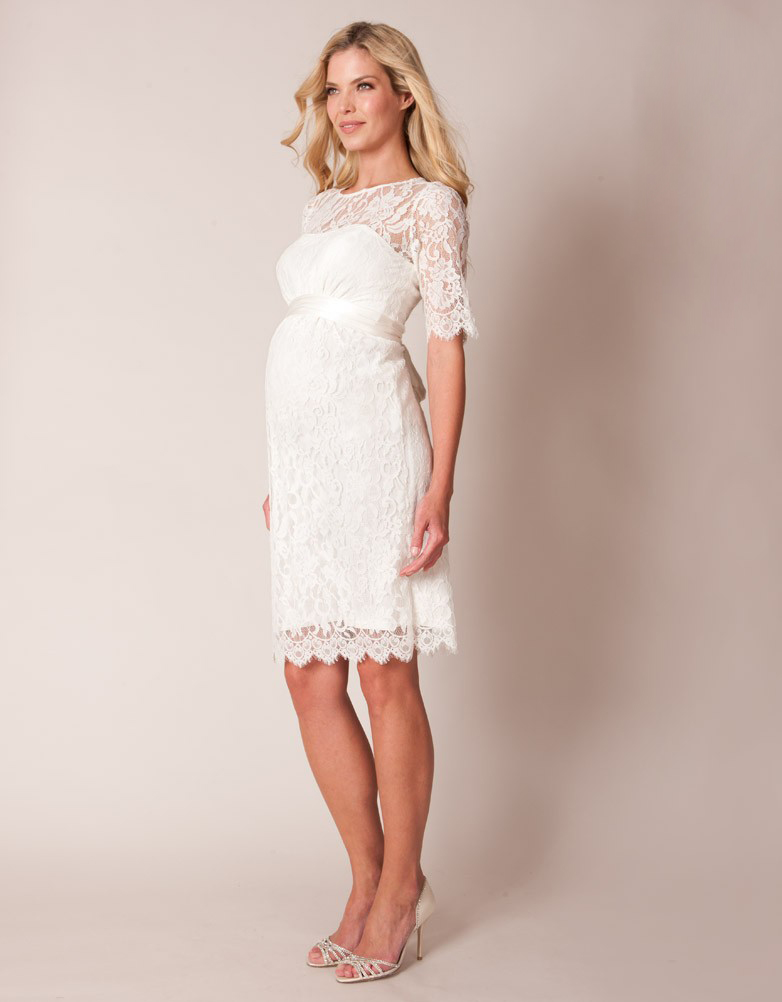 short maternity wedding dresses photo - 1