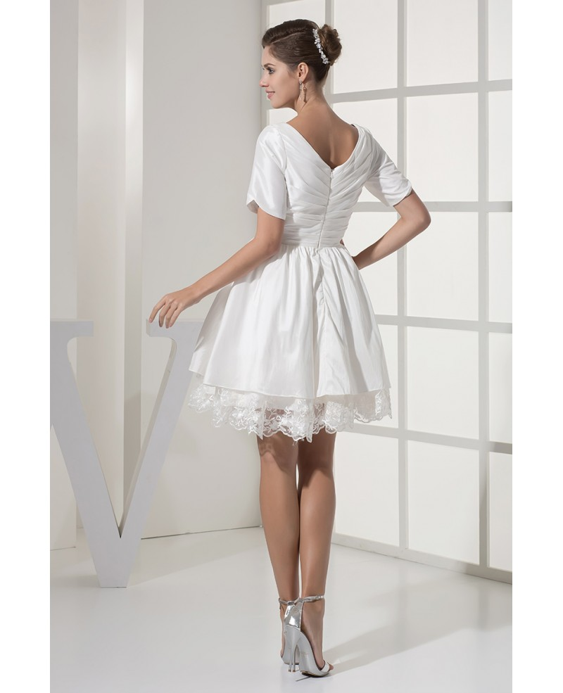short modest wedding dresses photo - 1