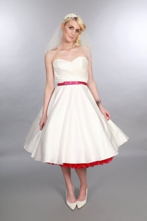 short off white wedding dresses photo - 1