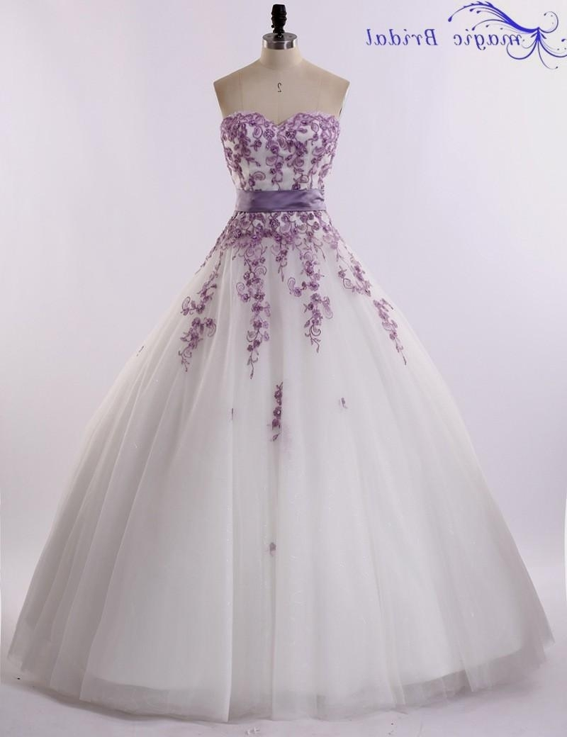 short purple wedding dresses photo - 1