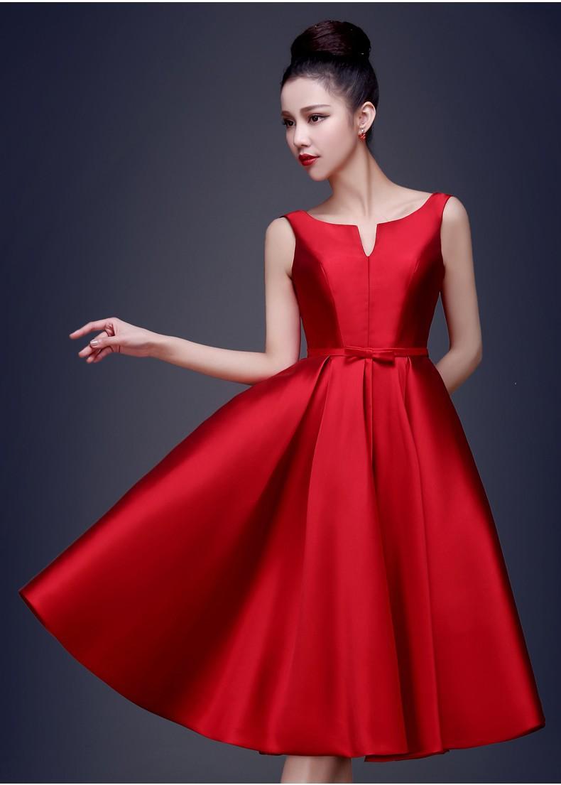 short red evening dresses photo - 1