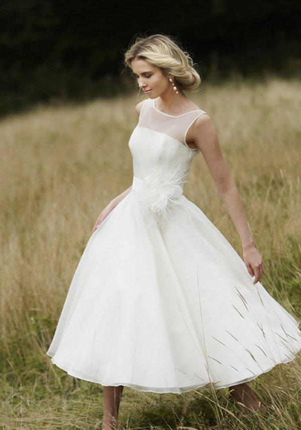 short retro wedding dresses photo - 1
