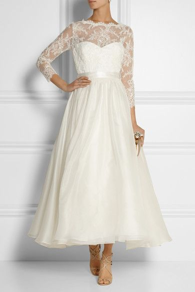 short wedding dresses lace photo - 1