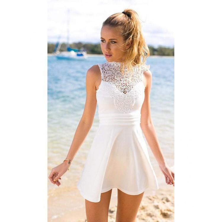 short wedding dresses long sleeve photo - 1