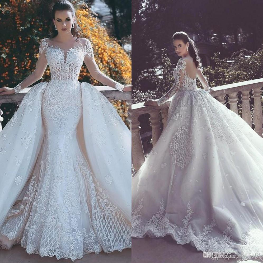 short wedding dresses with long trains photo - 1
