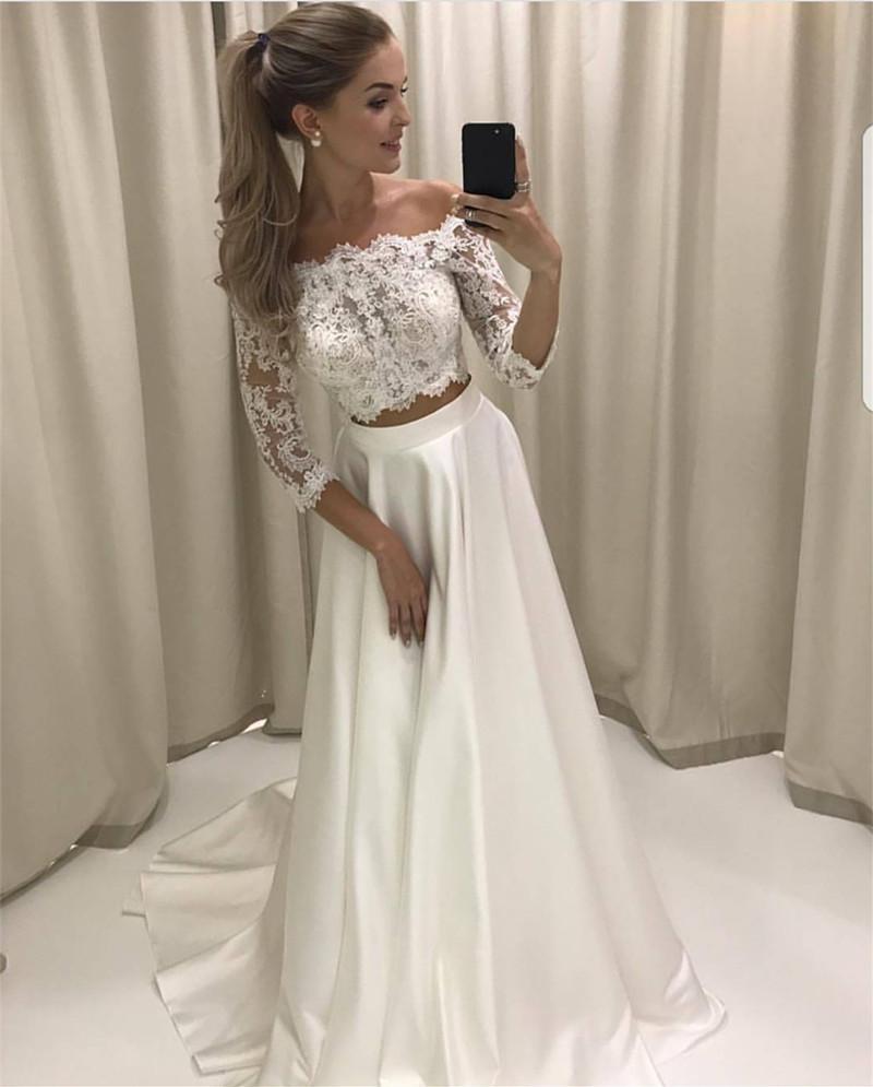 short white beach wedding dresses photo - 1