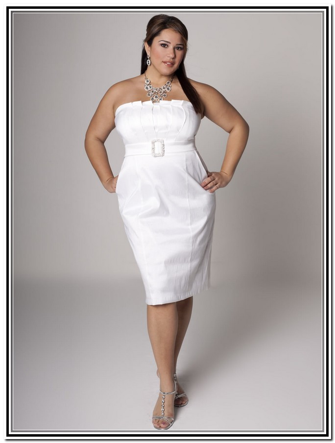 short white wedding dresses plus size photo - 1