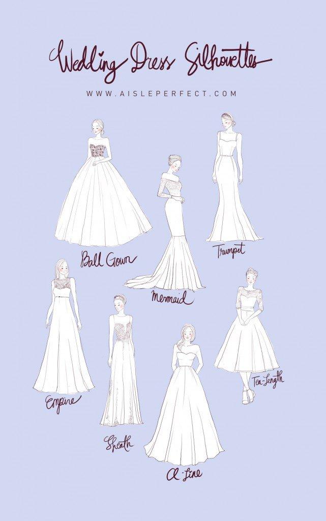 silhouettes wedding dresses photo - 1