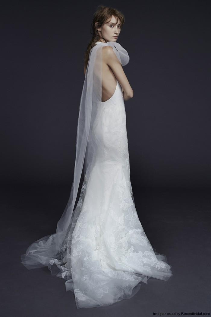 silk a line wedding dresses photo - 1