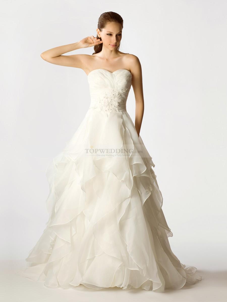 silk organza wedding dresses photo - 1