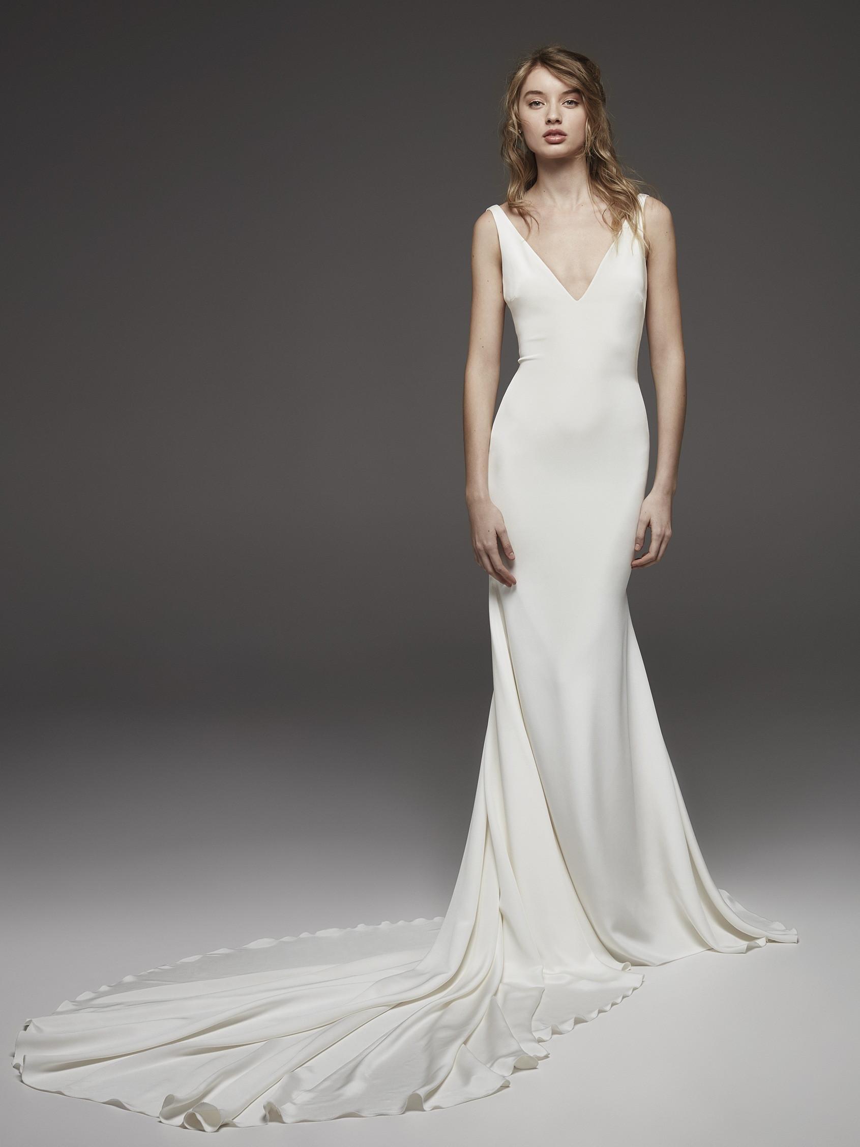 silk sheath wedding dresses photo - 1