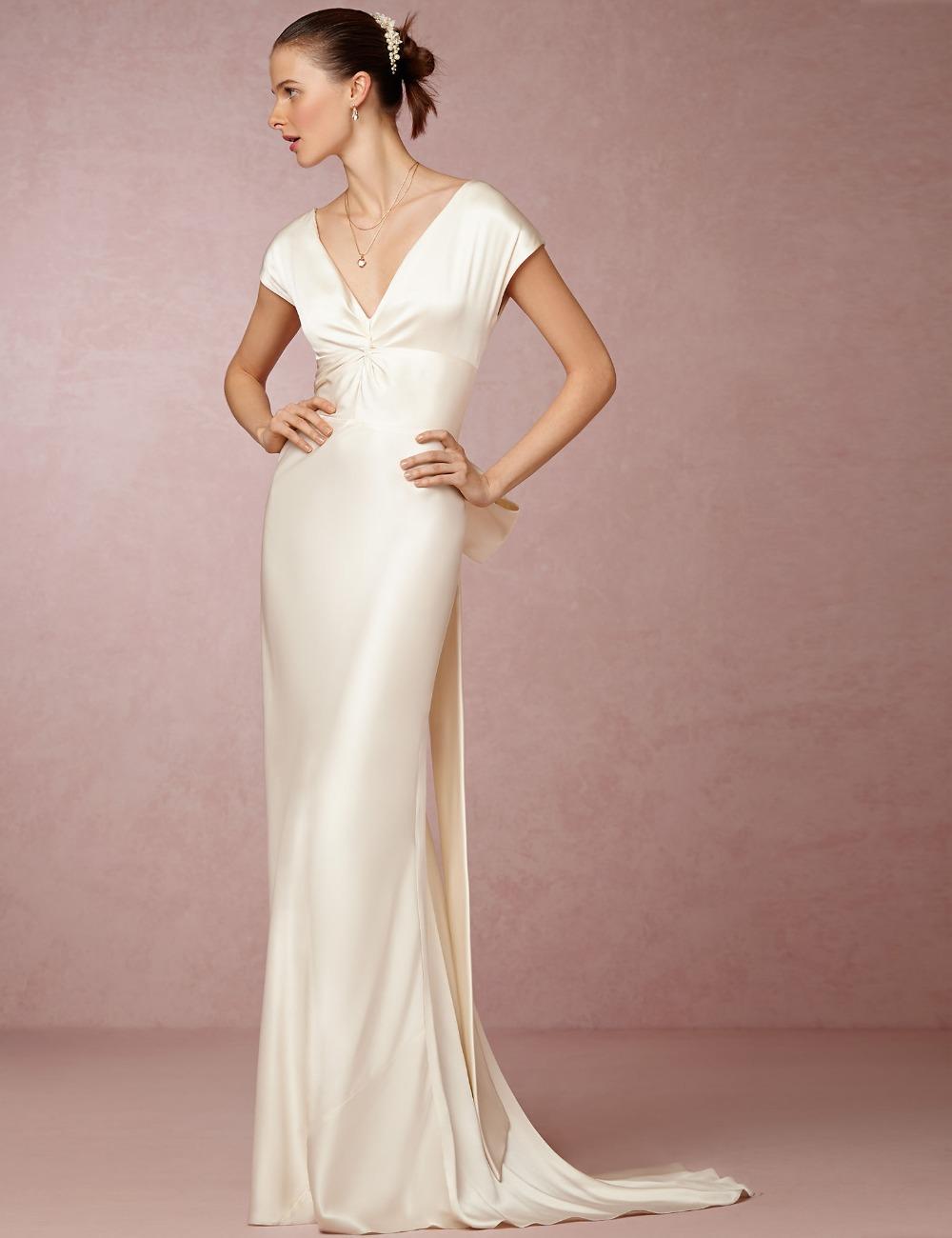 silk wedding dresses photo - 1