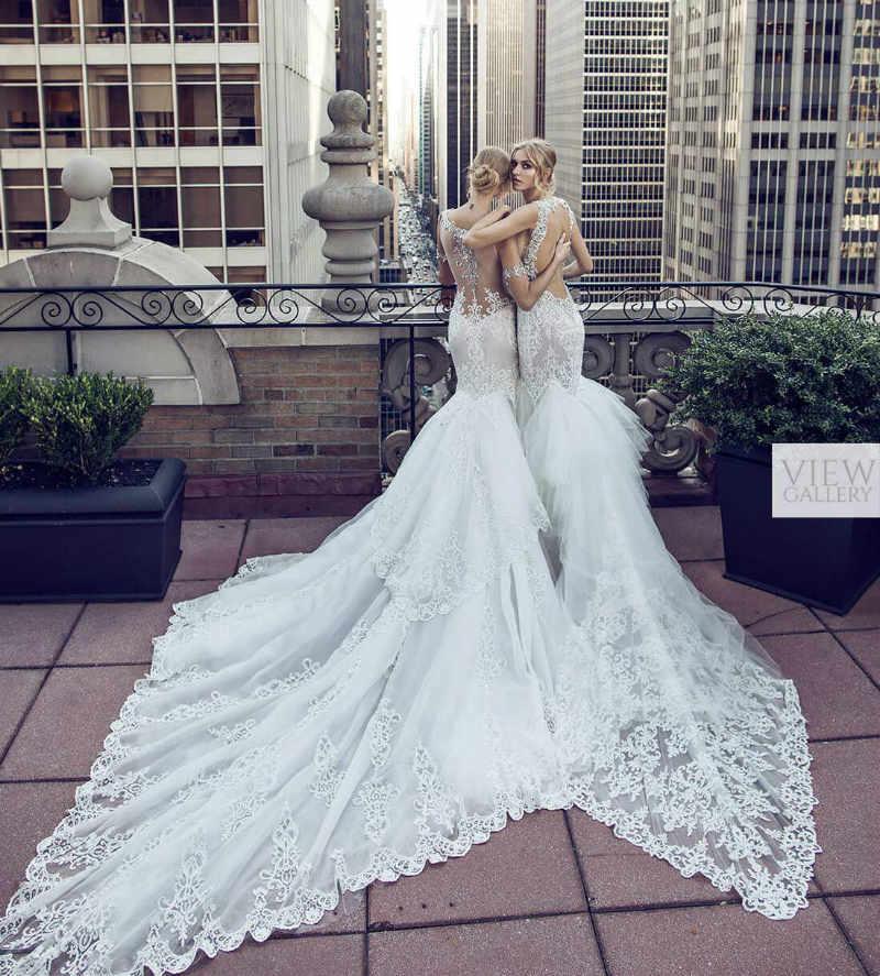silver lace wedding dresses photo - 1