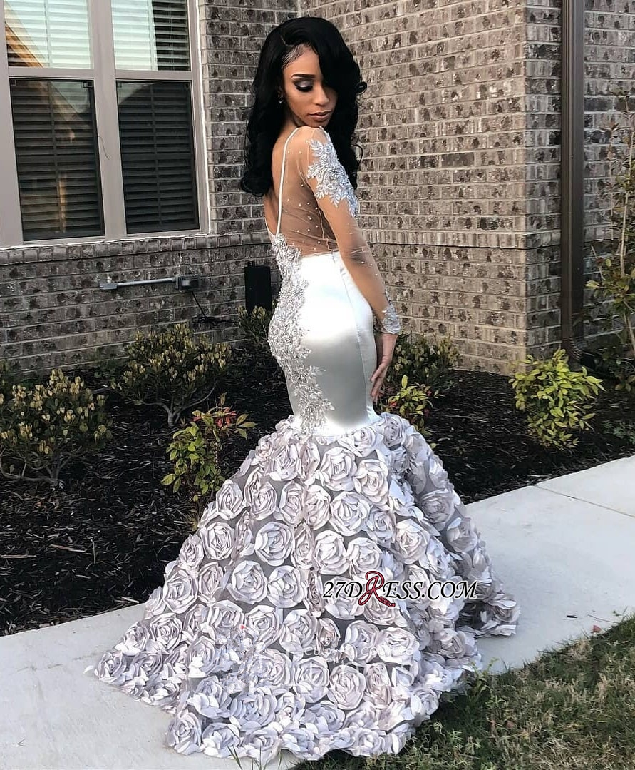 silver wedding dresses plus size photo - 1