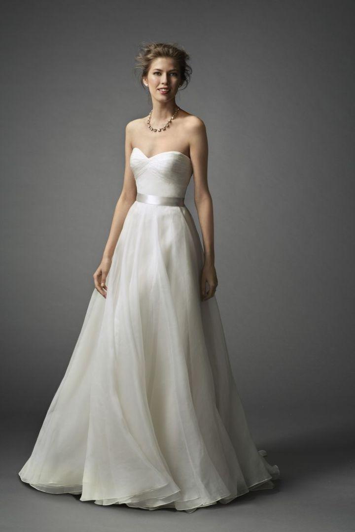 simple a line wedding dresses photo - 1