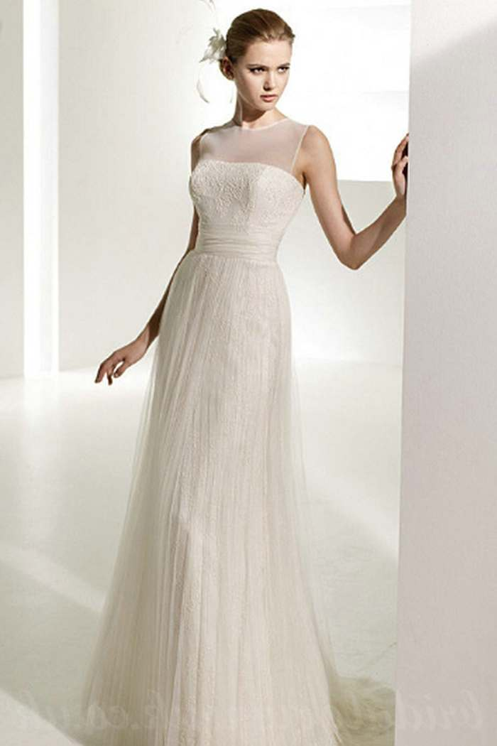 simple affordable wedding dresses photo - 1