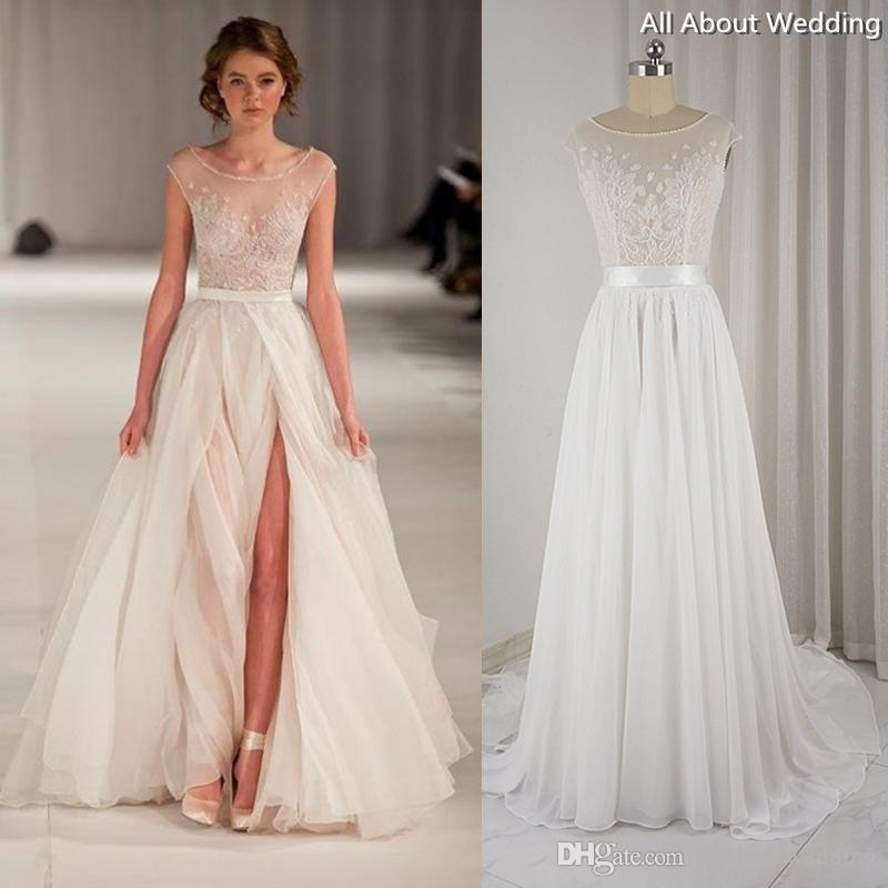 simple beach wedding dresses cheap photo - 1