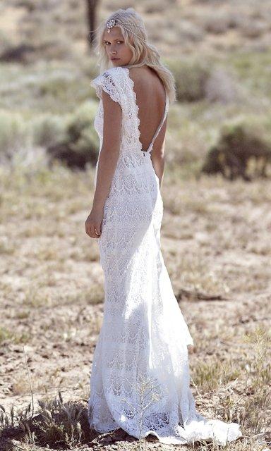 simple beautiful wedding dresses photo - 1