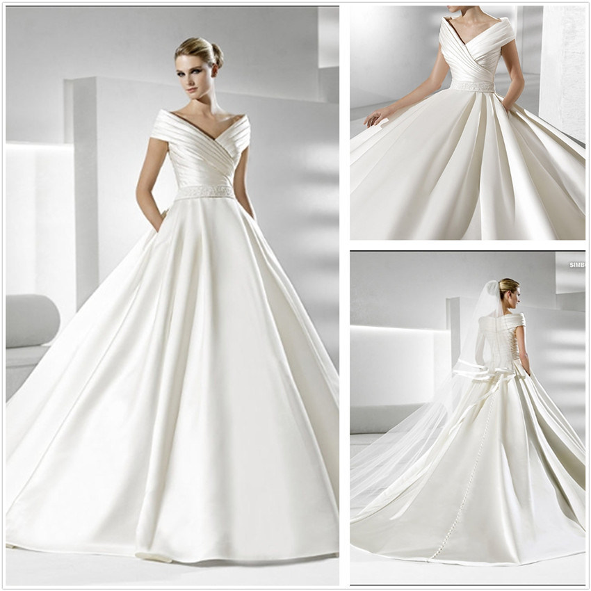 simple but elegant wedding dresses photo - 1