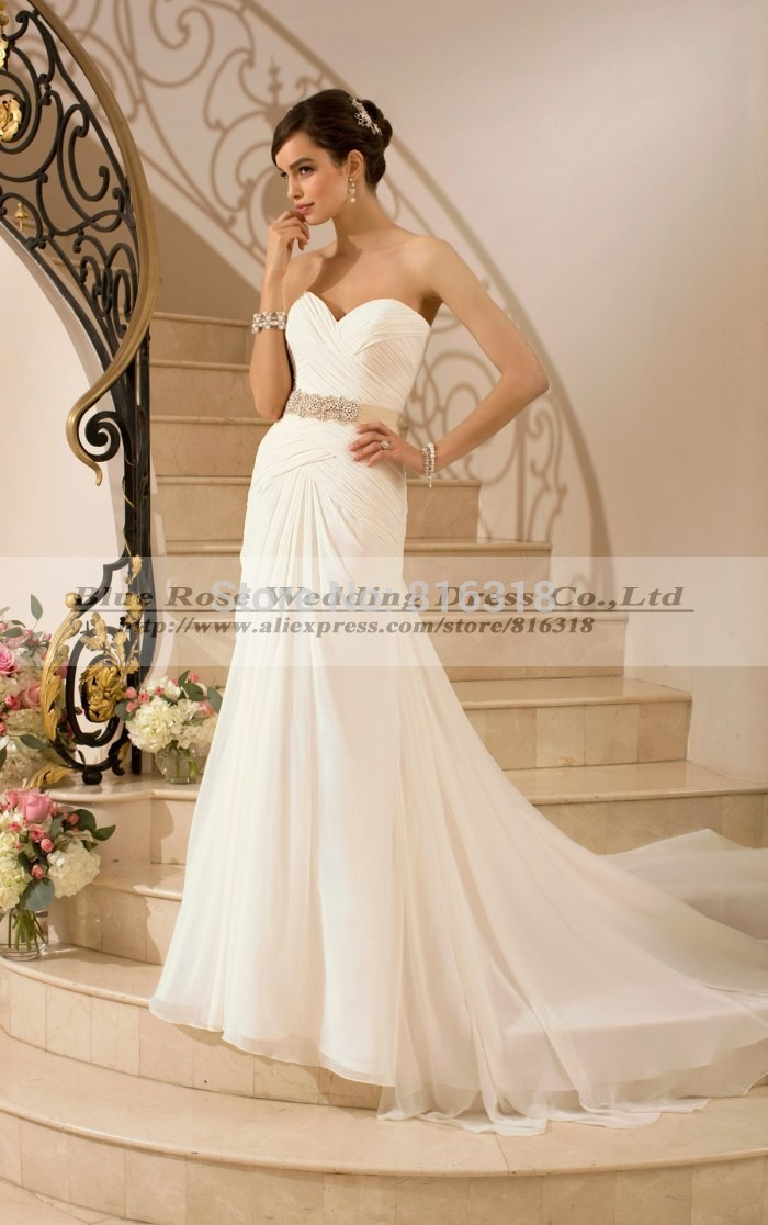 simple cheap wedding dresses under 100 photo - 1