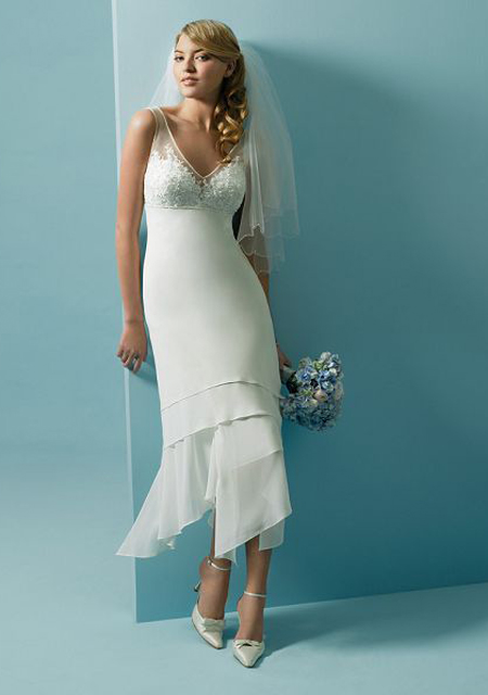 simple chiffon wedding dresses photo - 1