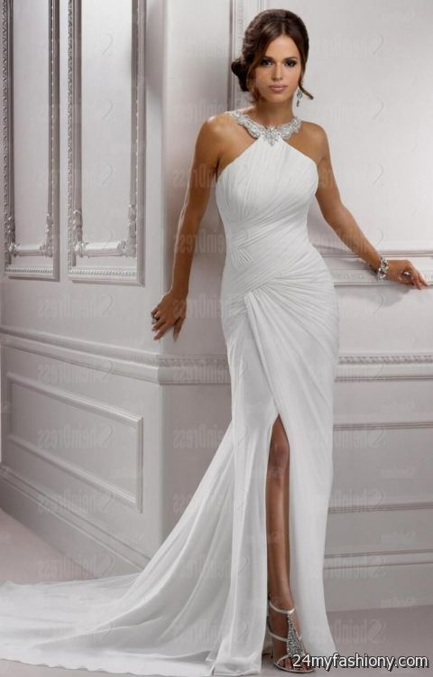 simple elegant wedding dresses photo - 1