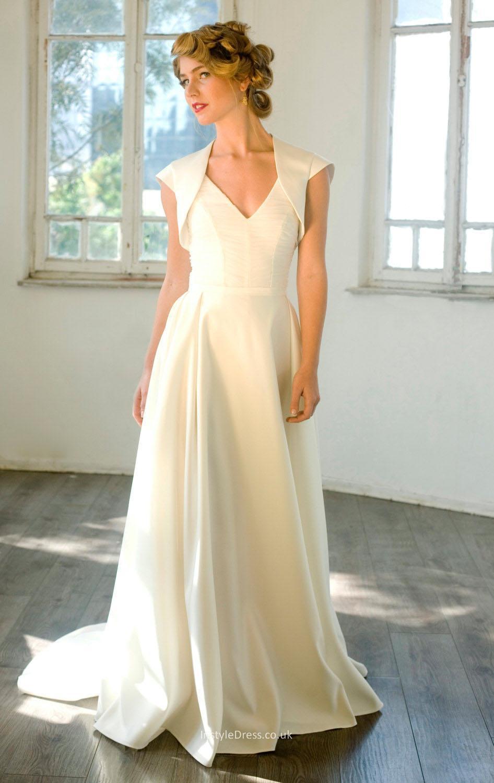 simple ivory wedding dresses photo - 1
