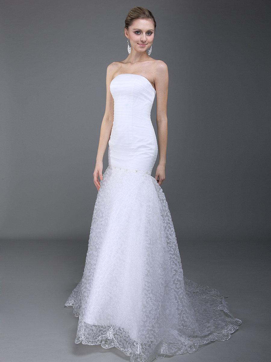 simple mermaid wedding dresses photo - 1
