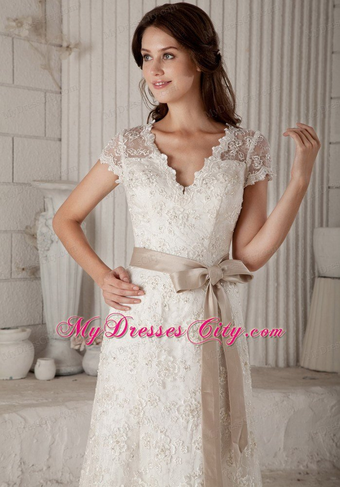 simple off white wedding dresses photo - 1