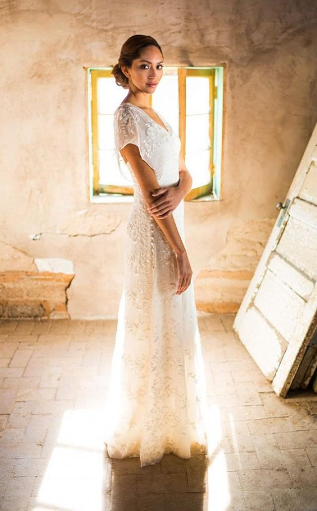 simple rustic wedding dresses photo - 1